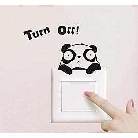 cheap Decoration Stickers-Panda Design Switch Sticker