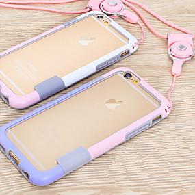 olcso iPhone tokok-Case Kompatibilitás Apple iPhone 6 Plus / iPhone 6 Védőkeret Egyszínű Puha TPU mert iPhone 6s Plus / iPhone 6s / iPhone 6 Plus