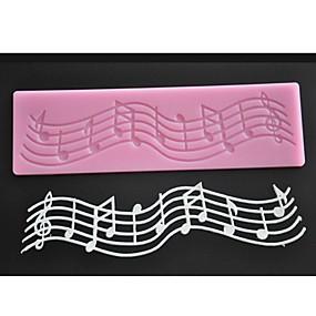 ieftine Bucătărie & Masă-simbol de muzică silicon tort mucegai fondant bucătărie bakeware