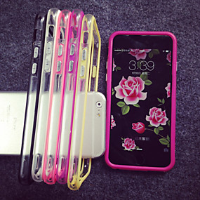 levne iPhone pouzdra-Carcasă Pro Apple iPhone 8 / iPhone 8 Plus / iPhone 7 Průhledné Ochranný rámeček Jednobarevné Měkké TPU pro iPhone 8 Plus / iPhone 8 / iPhone 7 Plus