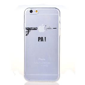 levne iPhone pouzdra-Carcasă Pro Apple iPhone 8 / iPhone 8 Plus / iPhone 7 Ultra tenké / Průhledné / Vzor Zadní kryt S logem Apple Měkké TPU pro iPhone 8 Plus / iPhone 8 / iPhone 7 Plus