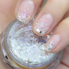 cheap Makeup & Nail Care-hexagonal glitter tablets nail art decorations