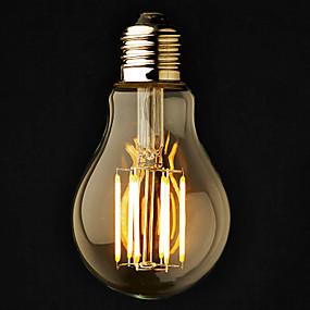 Χαμηλού Κόστους Λαμπτήρες LED με νήμα πυράκτωσης-ONDENN 3pcs 6 W LED Λάμπες Σφαίρα 2800-3200 lm E26 / E27 A60(A19) 6 LED χάντρες COB Με ροοστάτη Θερμό Λευκό 220-240 V 110-130 V / 3 τμχ / RoHs