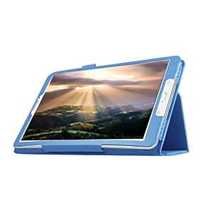 voordelige Galaxy Tab E 9.6 Hoesjes / covers-hoesje Voor Samsung Galaxy Tab E 9.6 met standaard / Flip Volledig hoesje Effen PU-nahka