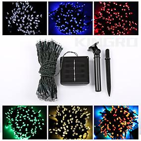 ieftine Becuri Solare LED-1set LED-uri de lumină de noapte Alb Cald / Alb / Albastru Energie solară Rezistent la apă / Reîncărcabil / Încântător <5 V LED Noutăți în iluminat