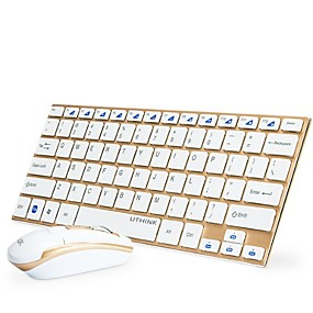 cheap Mouse Keyboard Combo-Miimall W01 Wireless 2.4GHz Mouse Keyboard Combo Mini Office Keyboard Office Mouse 1000 dpi