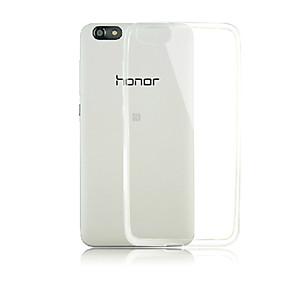 voordelige Huawei Honor hoesjes / covers-hoesje Voor Huawei Honor 4X / Huawei Huawei Honor 4X / Huawei Transparant Achterkant Effen Zacht TPU