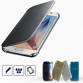 olcso Galaxy S tokok-SHI CHENG DA Case Kompatibilitás Samsung Galaxy Samsung Galaxy tok Galvanizálás Héjtok Egyszínű PC mert S7 edge / S7 / S6 edge plus