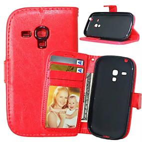 povoljno Galaxy S5 Mini - Torbice / kućišta-Θήκη Za Samsung Galaxy S5 Mini / S4 Mini / S4 Novčanik / Utor za kartice / sa stalkom Korice Jednobojni PU koža