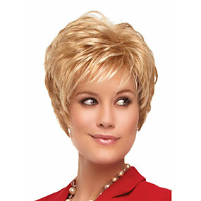 cheap Makeup & Nail Care-Synthetic Wig Wavy Style Capless Wig Blonde Blonde Synthetic Hair Women's Blonde Wig Short Halloween Wig