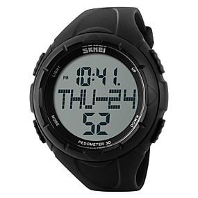 voordelige Merk Horloge-SKMEI Heren Sporthorloge Polshorloge Digitaal horloge Digitaal Rubber Zwart / Groen 30 m Waterbestendig Alarm Kalender Digitaal Amulet - Zwart Groen / Chronograaf / LCD