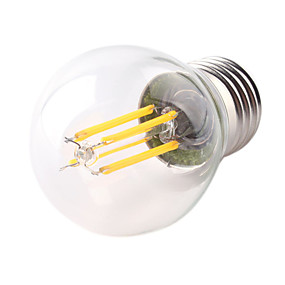 Χαμηλού Κόστους Λαμπτήρες LED με νήμα πυράκτωσης-1pc 4 W LED Λάμπες Πυράκτωσης 360 lm E26 / E27 G45 4 LED χάντρες COB Διακοσμητικό Θερμό Λευκό Ψυχρό Λευκό 220-240 V / 1 τμχ / RoHs