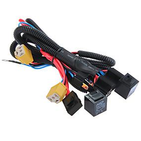 voordelige Schakelaars-H4 / 9003 koplamp booster kabelboom connector relais zekering socket