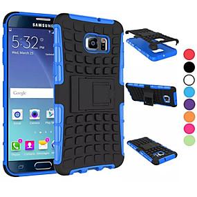 Недорогие Чехлы и кейсы для Galaxy S5 Mini-Кейс для Назначение SSamsung Galaxy S8 Plus / S8 / S6 edge plus Защита от удара / со стендом Кейс на заднюю панель броня ПК