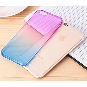 levne iPhone pouzdra-Carcasă Pro Apple iPhone 6 Plus / iPhone 6 Průhledné Zadní kryt Zářící barvy Měkké TPU pro iPhone 6s Plus / iPhone 6s / iPhone 6 Plus