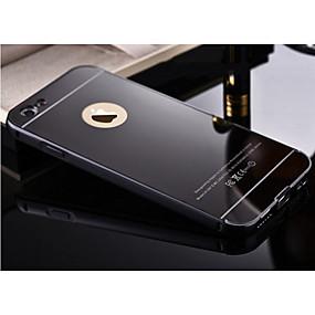 abordables Coques d'iPhone-cas pour apple iphone xr xs xs max placage / miroir couverture arrière solide en métal dur coloré pour iphone x 8 8 plus 7 7plus 6s 6s plus se 5 5s