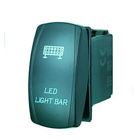 voordelige Schakelaars-iztoss 5pin laser led licht bar tuimelschakelaar aan-uit LED-licht 20a 12v blauw met draden te installeren