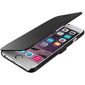 levne iPhone pouzdra-Carcasă Pro Apple iPhone 6 Plus / iPhone 6 Flip / Matné Celý kryt Jednobarevné Pevné Pravá kůže pro iPhone 6s Plus / iPhone 6s / iPhone 6 Plus