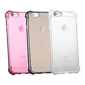 halpa iPhone 6s kotelot-kotelo omena iphone xr xs xs max iskunkestävä / läpinäkyvä takakansi kiinteä värillinen pehmeä silikoni iphone x 8 8 plus 7 7plus 6s 6s plus se 5 5s