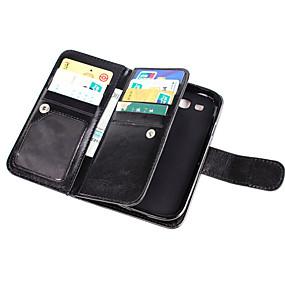 voordelige Galaxy Core Prime Hoesjes / covers-hoesje Voor Samsung Galaxy Grand Prime / Core Prime Portemonnee / Kaarthouder / Flip Volledig hoesje Effen PU-nahka