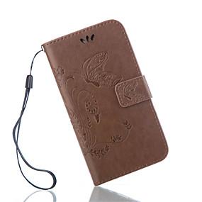 Недорогие Чехлы и кейсы для Galaxy S5 Mini-Кейс для Назначение SSamsung Galaxy S7 Active / S7 plus / S7 edge plus Кошелек / Бумажник для карт / со стендом Чехол Бабочка Кожа PU