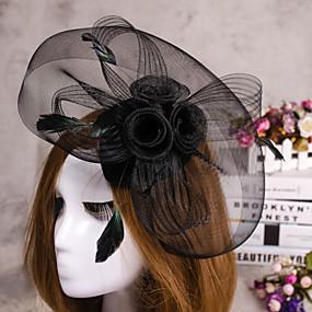 f2d966960da levne Ozdoby do vlasů-květina peří závoj okouzluje hat vlasy šperky pro  svatební hostinu