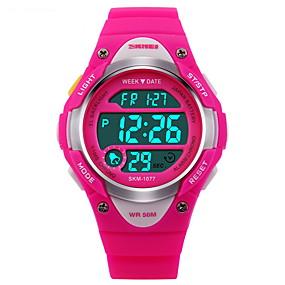billige Digitalure-SKMEI Sportsur Digital Watch Digital Gummi Sort / Blåt / Pink 30 m Vandafvisende Alarm Kalender Digital Mode - Sort Blå Lys pink To år Batteri Levetid / Kronograf / Selvlysende / LCD / Stopur