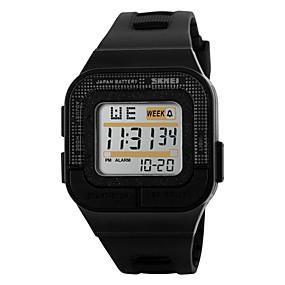 voordelige Merk Horloge-SKMEI Heren Sporthorloge Digitaal horloge Digitaal Gewatteerd PU-leer Zwart / roze 30 m Waterbestendig Alarm Kalender Digitaal Zwart Grijs Roos / Chronograaf / LED / Lichtgevend / Stopwatch