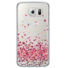 preiswerte Galaxy S Serie Hüllen / Cover-Hülle Für Samsung Galaxy Samsung Galaxy Hülle Transparent / Muster Rückseite Herz Weich TPU für S6 / S5 / S4