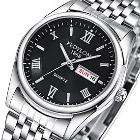 ieftine -70% & Peste-Pentru cupluri Ceas de Mână Oțel inoxidabil Argint 30 m Ceas Casual Analog Casual Modă - Negru Argintiu Albastru Un an Durată de Viaţă Baterie / Tianqiu 377