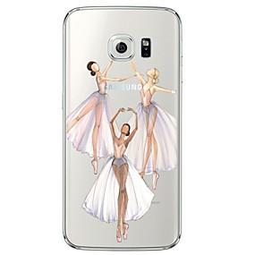 levne Galaxy S pouzdra / obaly-Carcasă Pro Samsung Galaxy Samsung Galaxy S7 Edge Průhledné / Vzor Zadní kryt Sexy lady Měkké TPU pro S7 edge / S7 / S6 edge plus