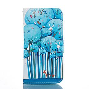 Недорогие Чехлы и кейсы для Galaxy S5 Mini-Кейс для Назначение SSamsung Galaxy S7 edge / S7 / S6 edge plus Бумажник для карт / со стендом / Флип Чехол дерево Мягкий Кожа PU