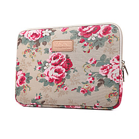 billige Apple-tilbehør-Ærmer Hylster Blomst Tekstil for MacBook Air 13-tommer / MacBook Pro 13-tommer / MacBook Air 11-tommer