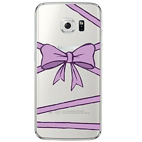 voordelige Galaxy S7 Edge Hoesjes / covers-hoesje Voor Samsung Galaxy S7 edge / S7 / S6 edge plus Transparant / Patroon Achterkant Lijnen / golven Zacht TPU