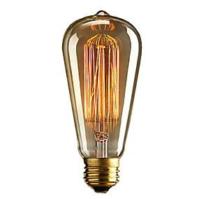 ieftine Becuri LED Glob-brelong 1 buc e27 40w st64 edimens edison bec decorativ cald alb