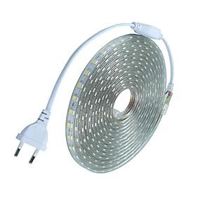 ieftine Benzi Lumină LED-10m Fâșii De Becuri LEd Flexibile 600 LED-uri 5050 SMD Alb Cald / Alb / Roșu Rezistent la apă / Ce poate fi Tăiat / Nuntă 220-240 V
