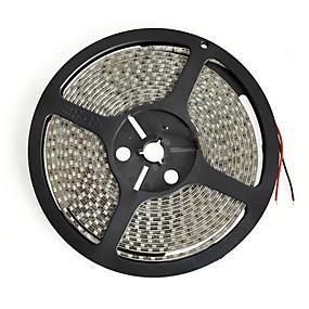 ieftine Benzi Lumină LED-5m benzi flexibile led 600 leduri 3528 smd 8mm alb cald / alb / roșu tăietoare / impermeabil / conectabil 12 v / ip65 / potrivit pentru vehicule / autoadeziv
