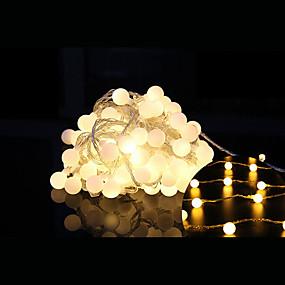 baratos Casa & Cozinha-10m Cordões de Luzes 100 LEDs LED Dip Branco Quente Natal / Decorativa / Conetável 1conjunto / IP44