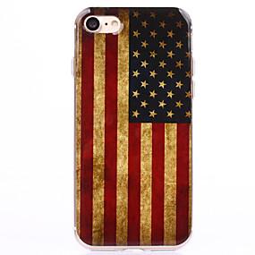 halpa iPhone 6s kotelot-Etui Käyttötarkoitus Apple iPhone 8 / iPhone 8 Plus / iPhone 7 Läpinäkyvä / Kuvio Takakuori Lippu Pehmeä TPU varten iPhone 8 Plus / iPhone 8 / iPhone 7 Plus