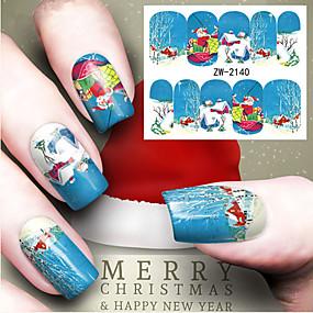 cheap Makeup & Nail Care-Water Transfer Printing Christmas Element Nail Art Stickers