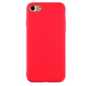 abordables Accessoires Apple-Coque Pour Apple iPhone X / iPhone 8 / iPhone 7 Ultrafine / Dépoli Coque Couleur Pleine Flexible TPU pour iPhone X / iPhone 8 Plus / iPhone 8