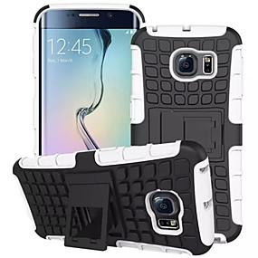 olcso Galaxy S tokok-SHI CHENG DA Case Kompatibilitás Samsung Galaxy Samsung Galaxy tok Ütésálló / Állvánnyal Fekete tok Páncél PC mert S7 edge / S7 / S6 edge