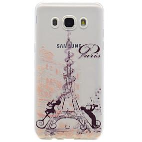 voordelige Galaxy Core Prime Hoesjes / covers-hoesje Voor Samsung Galaxy On 7 / On 5 / J7 (2016) Patroon Achterkant Eiffeltoren Zacht TPU