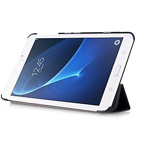 billige PC- og tablettilbehør-Etui Til Samsung Galaxy Fuldt etui / Tablet Etuier Ensfarvet Hårdt PU Læder for Tab A 7.0 (2016)