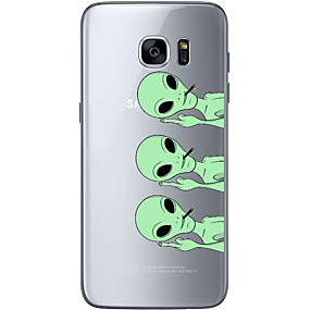 voordelige Galaxy S7 Hoesjes / covers-hoesje Voor Samsung Galaxy S7 edge / S7 / S6 edge plus Patroon Achterkant Doodskoppen Zacht TPU