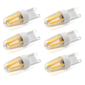 abordables Luces LED de Doble Pin-6pcs 2.5 W Bombillas de Filamento LED 220 lm G9 T 4 Cuentas LED COB Decorativa Blanco Cálido Blanco Fresco 220-240 V / 6 piezas / Cañas