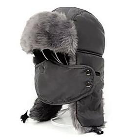 tanie Akcesoria turystyczne-Męskie Damskie Uszanka Futrzana czapka Keep Warm Sporty zimowe Poliester Polar Maska Kapelusz Odzież narciarska