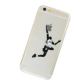 olcso iPhone tokok-Case Kompatibilitás Apple iPhone 7 / iPhone 7 Plus / iPhone 6 Plus Átlátszó / Minta Fekete tok Apple logo Puha TPU mert iPhone 7 Plus / iPhone 7 / iPhone 6s Plus