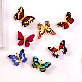 ieftine LED-uri & Iluminat-1pc a condus lumina lumina de noapte lumina de noapte cu colorat schimbarea fluture lumina de interior cu aspirator acasă partid birou perete decor
