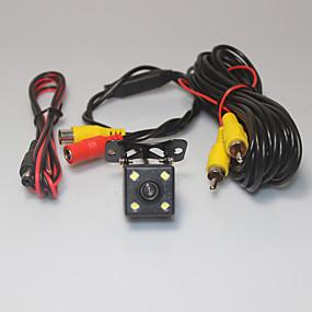 voordelige Auto-elektronica-Park Assist systeem auto achteruitrijcamera 4 geleid ccd hd achteruitkijkspiegel achteruit achteruitrijcamera universele back-up camera